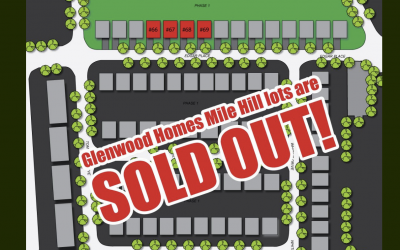 Glenwood Homes Mile Hill Lots Are SOLD-OUT!